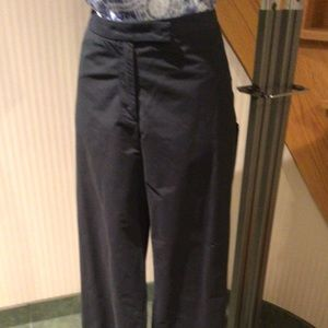 Black  casual pants with zippers for tall ladies